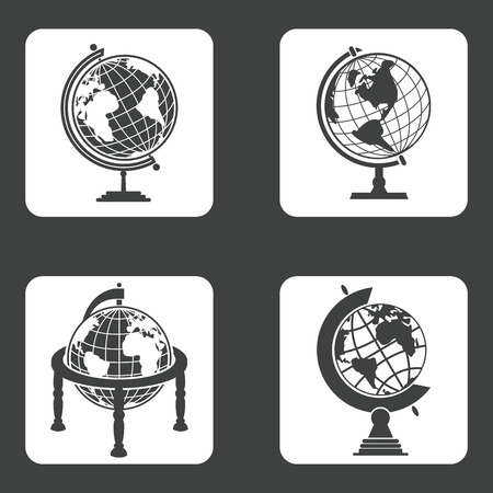 prop: Earth globe icons set for web and mobile devices