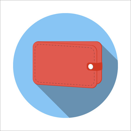 money wallet: Wallet flat icon isolated on white background