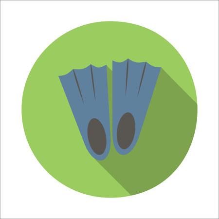 flippers: Flippers icono plana aislado en fondo blanco Vectores