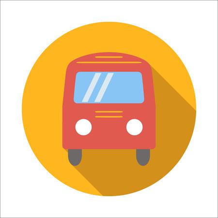 omnibus: Bus flat icon isolated on white background