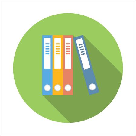 folder: Folders flat icon isolated on white background Illustration