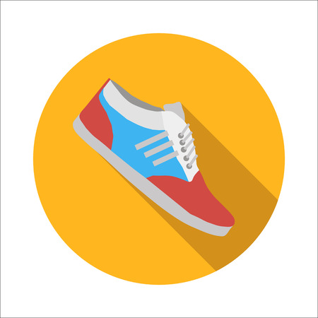outsole: Sport shoes flat icon isolated on white background