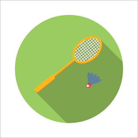badminton: Badminton flat icon isolated on white background