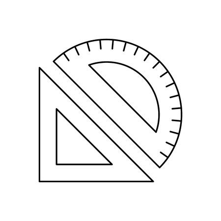 measuring instruments: Measuring instruments line icon, thin contour on white background