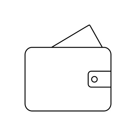 billfold: Wallet line icon, thin contour on white background