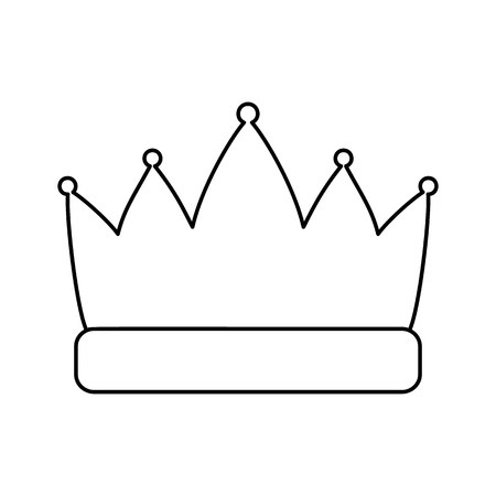 beauty contest: Crown line icon, thin contour on white background