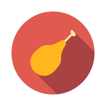 roast chicken: Chicken legs flat icon isolated on white background