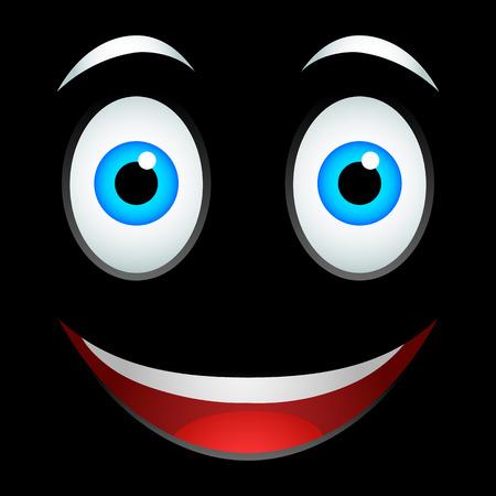 meta: Smile emoticon sign on a black background