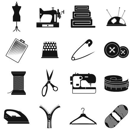 maquinas de coser: Costura simple icono aislado en el fondo blanco
