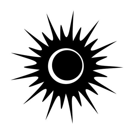 solar eclipse: Solar eclipse single black icon on a white background