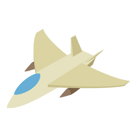 fighter jet: Fighter jet isometric 3d icon on a white background Illustration
