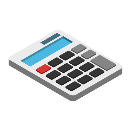 calculator: Calculator isometric 3d icon. Illustration isolated on a white
