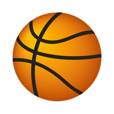 college basketball: Basketball ball isometric 3d icon isolated on white background Illustration