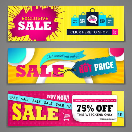 march: Sale banners design set for web and mobile devices