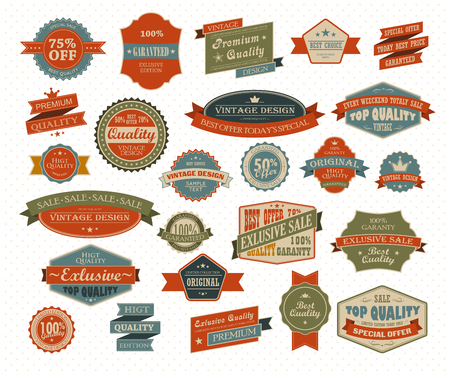 handshake icon: Vintage and retro design elements. Useful design elements - old papers, labels in retro and vintage style