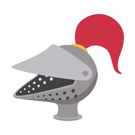 war decoration: Medieval helmet cartoon icon on a white background Illustration