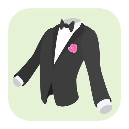 formal: Men formal suit cartoon icon isolated on white background