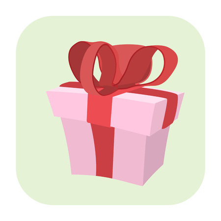 web graphics: Gift cartoon icon isolated on white background