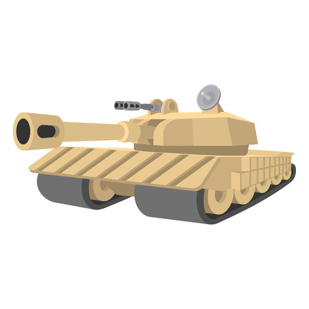 battle tank: Heavy tank cartoon icon isolated on a white background