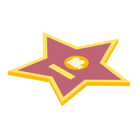 Movie star isometric 3d icon isolated on a white background