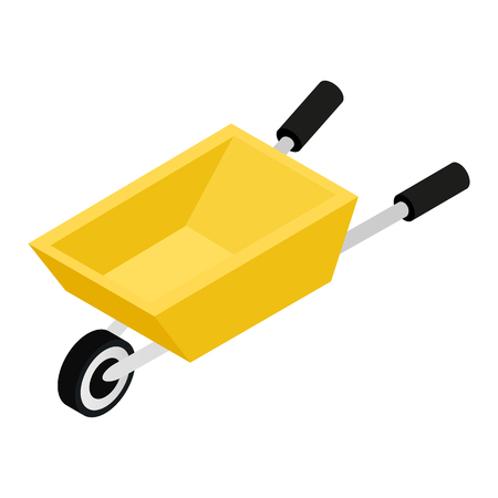 hauling: Garden Wagon 3D isometric icon on a white background