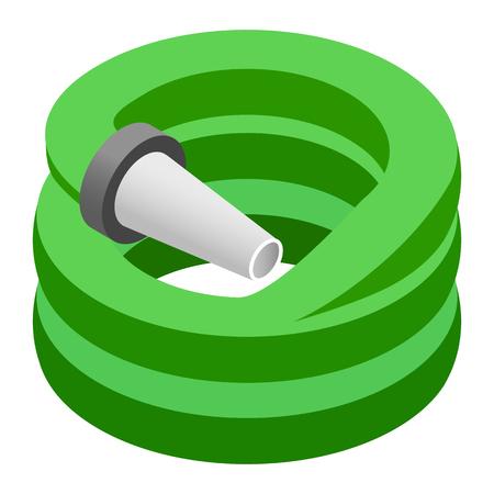 rinse spray hose: Hose isometric 3d icon isolated on a white background Illustration