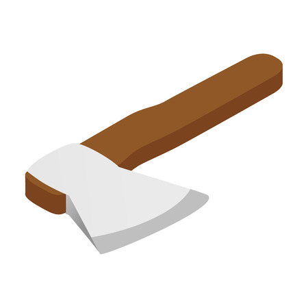 axe: Axe isometric 3d icon isolated on a white background Illustration