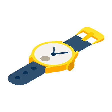 straps: Watches isometric 3d icon isolated on a white background