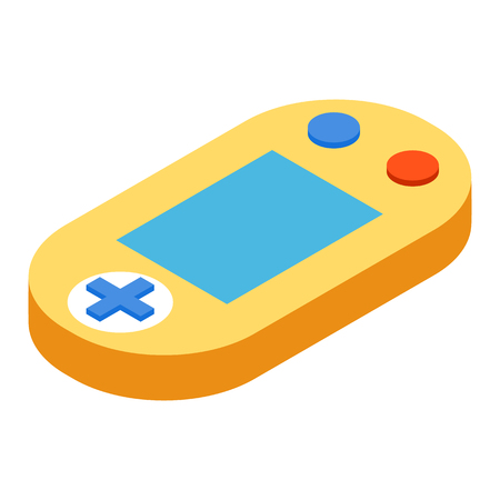 Game console isometric 3d icon isolated on a white background