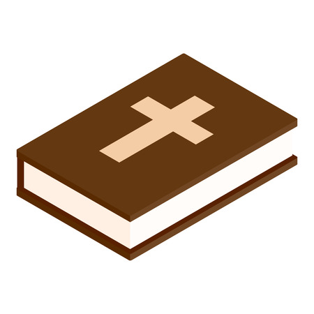 baptist: Brown bible isometric 3d icon on a white background Illustration