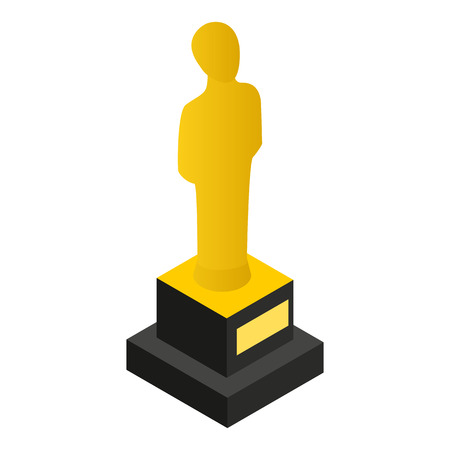 commendation: Film awards 3D isometric icon on a white background
