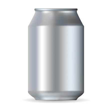 drinking soda: Big realistic can isolated on a white background Illustration