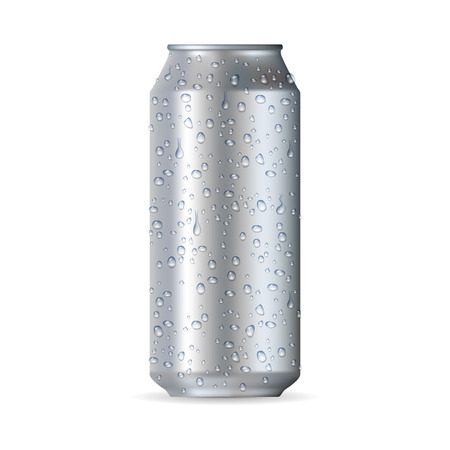 Highly realistic aluminum can isolated on a white background