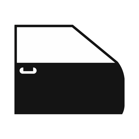 bodywork: Black car door flat icon isolated on a white background Illustration