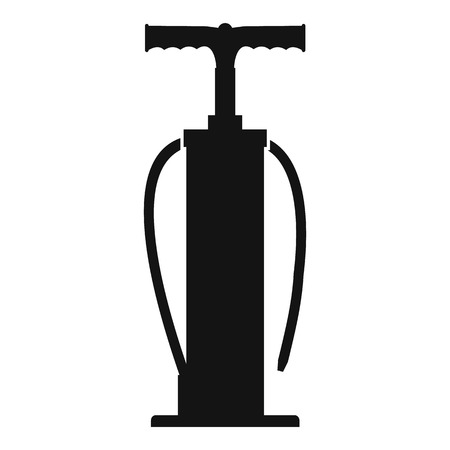 one wheel bike: Black Hand Pump icon isolated on a white background Illustration