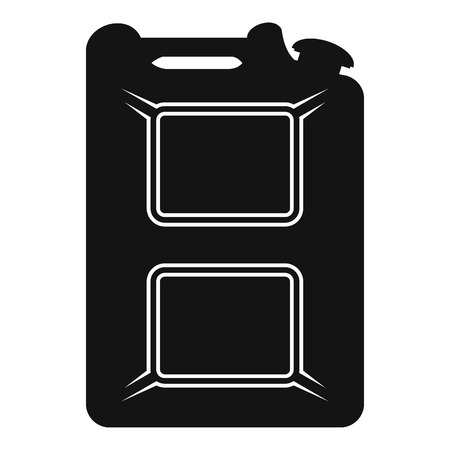 canister: Black canister flat icon isolated on a white background Illustration