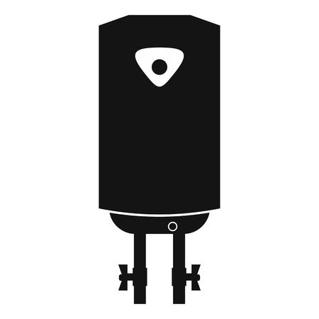 podgrzewacz wody lub kocioł czarna prosta ikona na białym tle