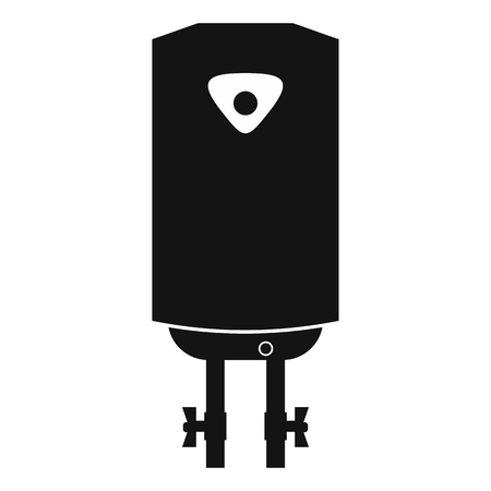 water heater: Water heater or boiler black simple icon on a white background