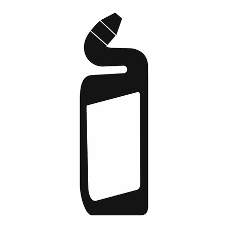 cleanness: Toilet cleaner container black simple icon on a white background