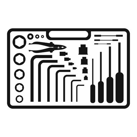 Handwerkzeuge schwarz einfache Symbol auf einem weißen Hintergrund