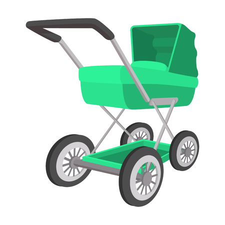 buggy: Green buggy cartoon icon on a white background