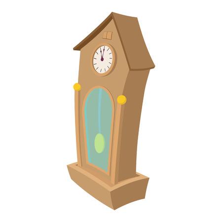 Icono de dibujos animados reloj aisladas sobre fondo blanco