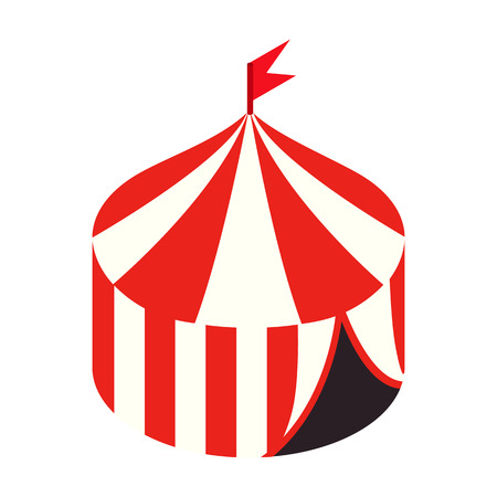 Circus tent isometric 3d icon isolated on a white background