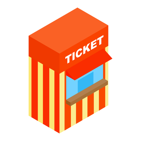 ticketing: Circus ticketing isometric 3d icon isolated on a white background