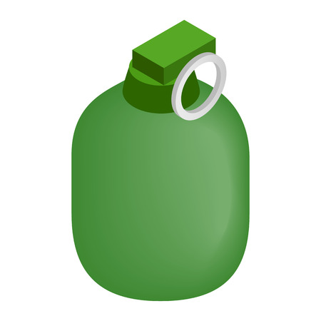 handgrenade: Hand grenade 3d isometric icon isolated on a white background
