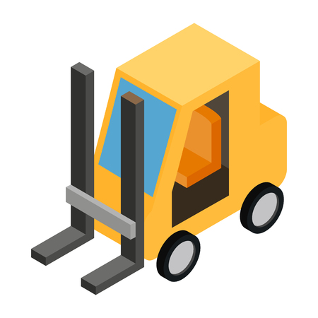 mini loader: Loader isometric 3d icon on a white background