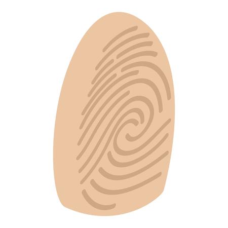 somebody: Fingerprint isometric 3d icon on a white background Illustration