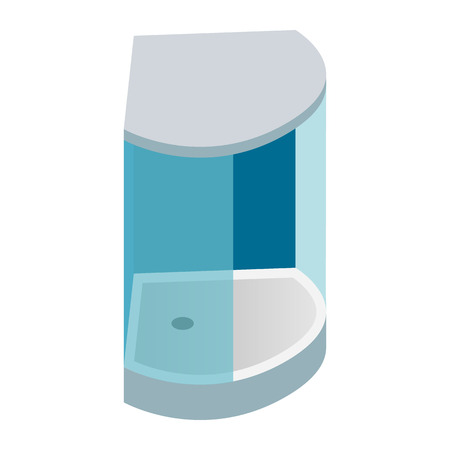 cabin: Shower cabin isometric 3d icon on a white background