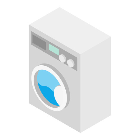 fully automatic: Washer isometric 3d icon isolated on a white background