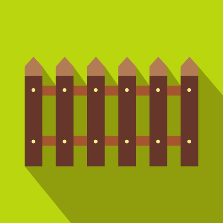 ligneous: Fence icon with shadow isolated on green background